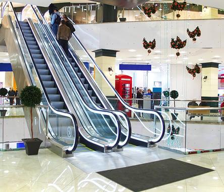 escalator with matting